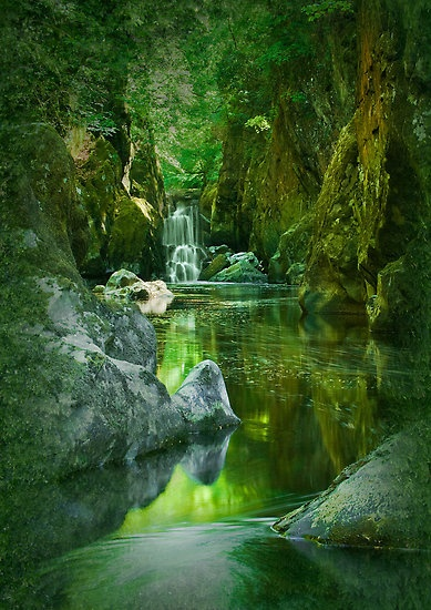 The Fairy Glen, Conwy River near Betws-y-Coed, North Wales
