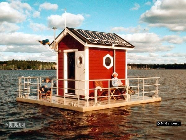 Utter Inn, Västerås, Sweden, A hotel with only one guest room, complete with a bedroom below the water with windows for watching marine life.