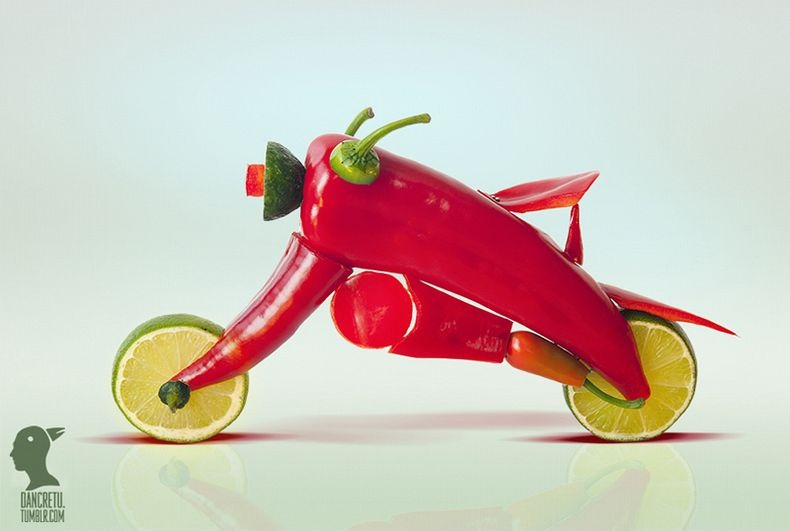 dan-cretu-Photographer and visual artist Dan Cretu recreates everyday objects out of fruits and vegetables