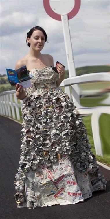 human ingen, newspaper dress