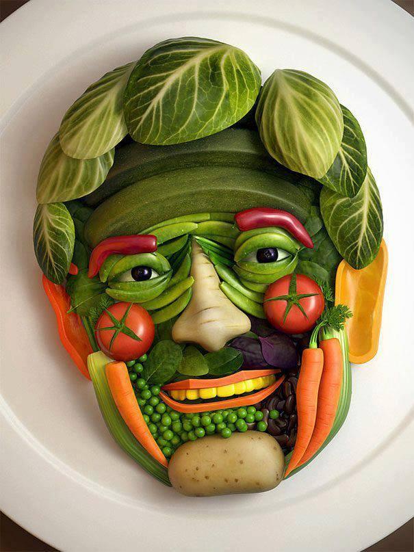 human ingen, veggie face