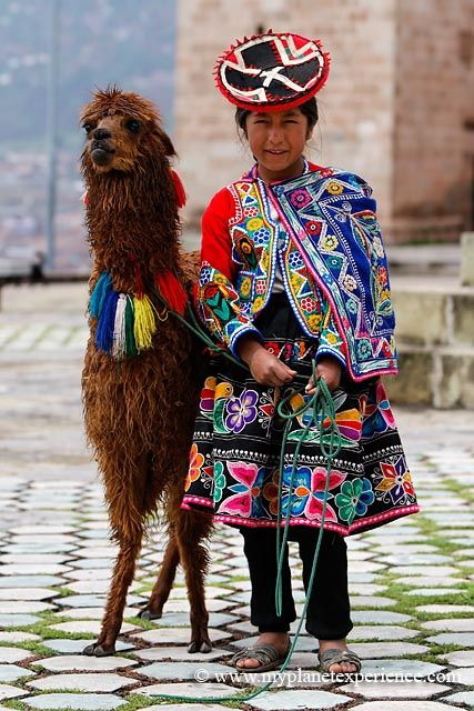 The Quechua girl and the Llama - Peru, by my planetExperience on flickr