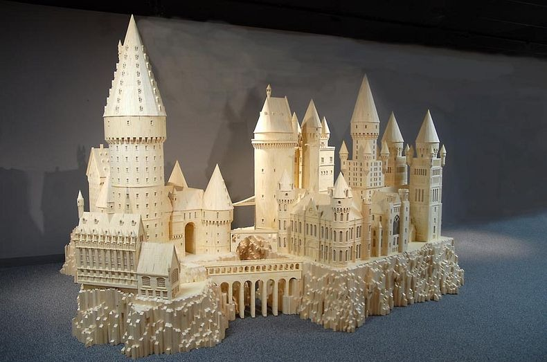 A 600,000 matchstick model of the Hogwarts School of Witchcraft and Wizardry