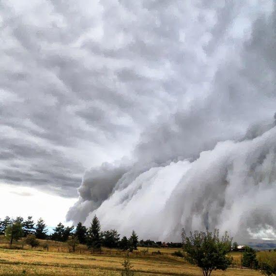 Shelf cloud, Bozeman, Montana