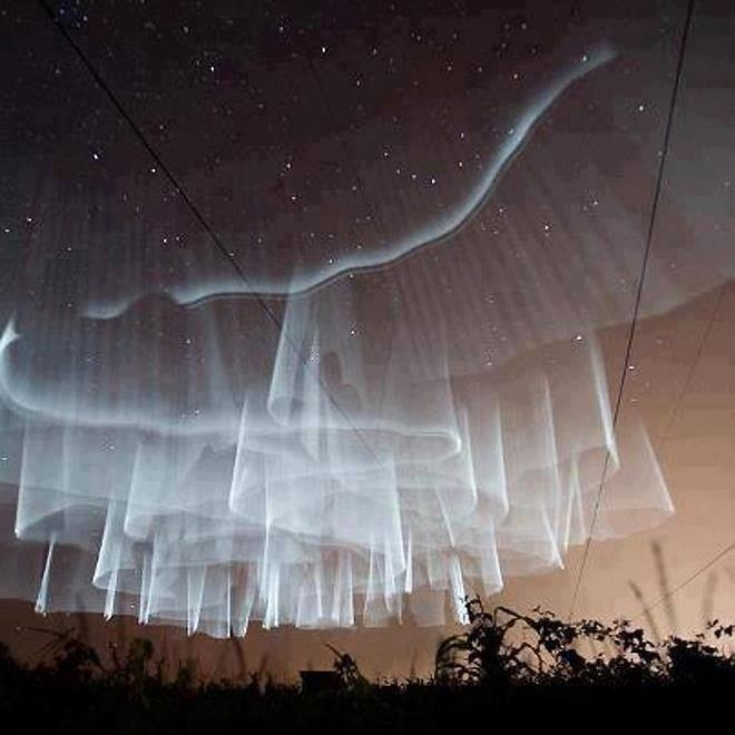 """I""""m not sure if this aurora borealis in Finland is technically weather, but this image is amazing."""