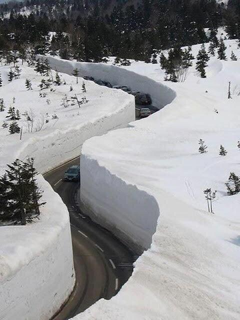 More than 30 feet of snow in Japan.