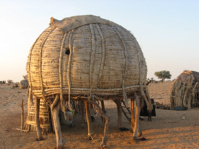 A Turkana home in the Northwestern part of Kenya