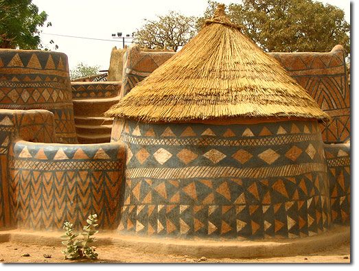 An earthen building in Burkina Faso