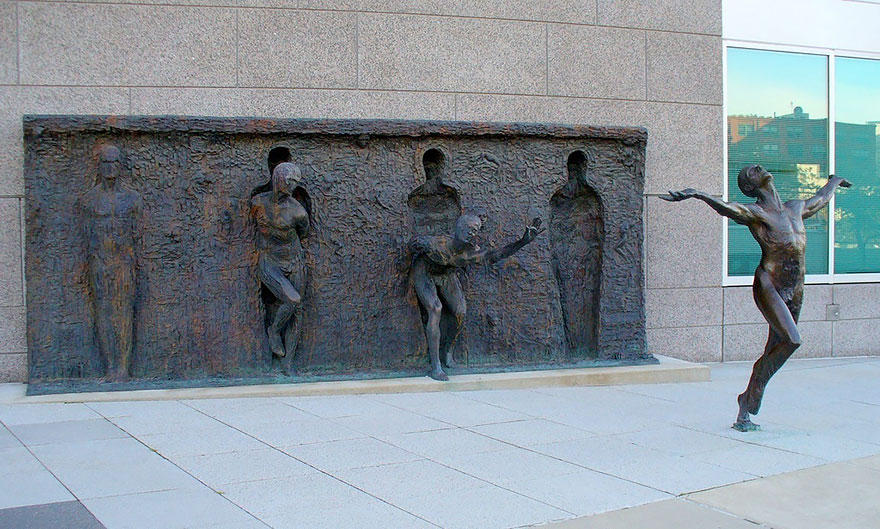 Break Through From Your Mold by Zenos Frudakis, Philadelphia, Pennsylvania, USA.