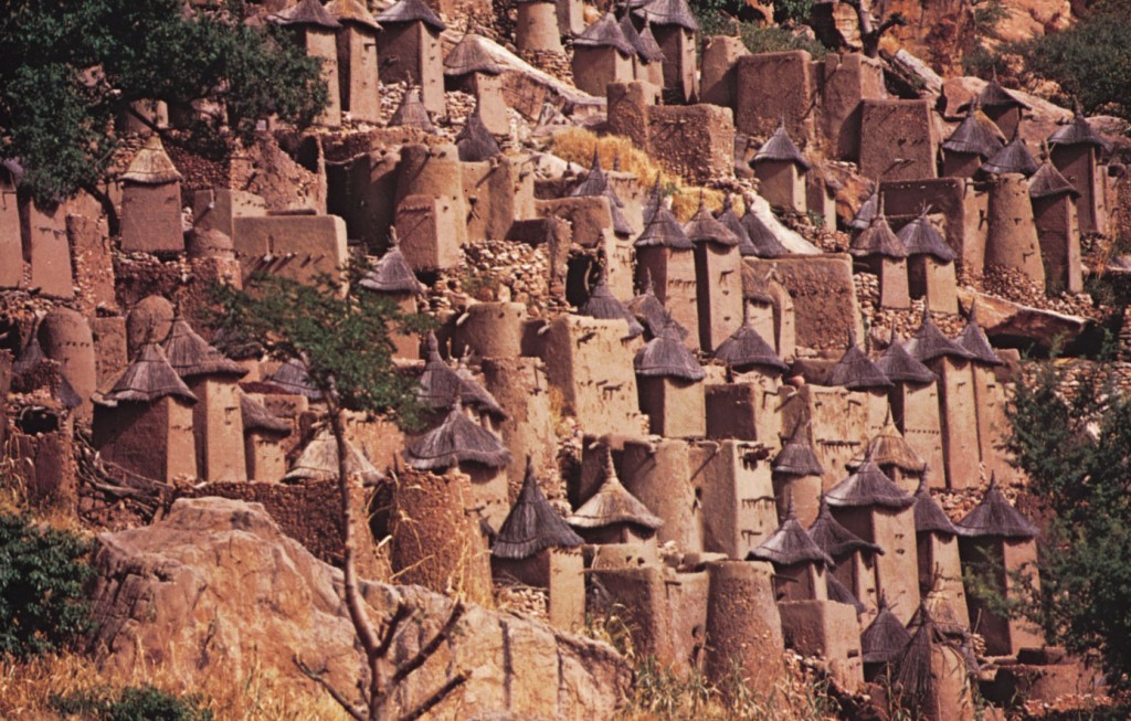 Dogon cliff village, Bandiagara Escarpment, Mali. Photo credit Victor Engelbert.