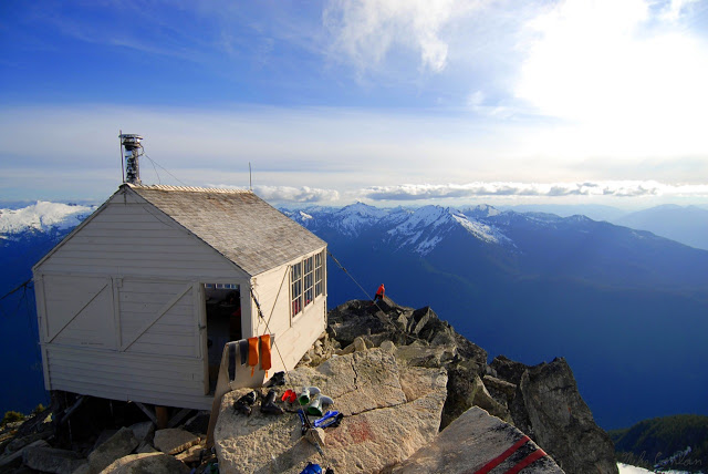 Fire lookout in the Cascade Mountains of Washington state, USA
