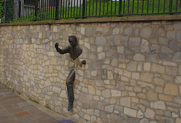 Le Passe-Muraille, or Man in the Wall, Paris, France