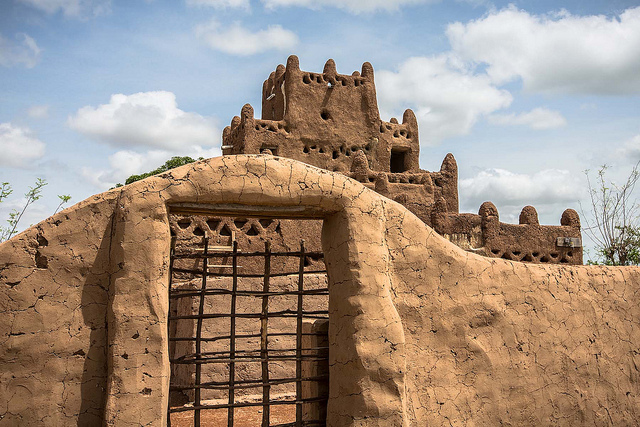 Earthern mud mosque in Northern Ghana