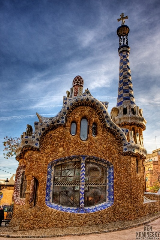 Park Güell designed by Antoni Gaudi, Barcelona, Spain