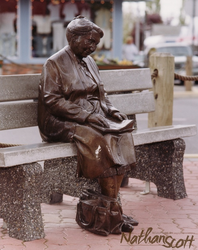 Reading woman, Nathan Scott