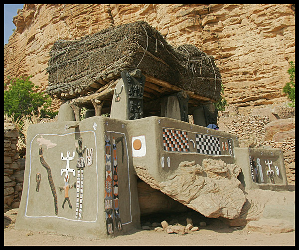 Meeting house and resting place for Dogon men, Mali
