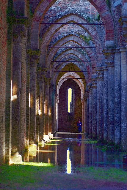After the rain, Abbey of San Galgano,  Italy by Marite
