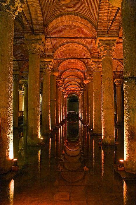 Basilica Cistern, Istanbul, Turkey Print by Carson Ganci