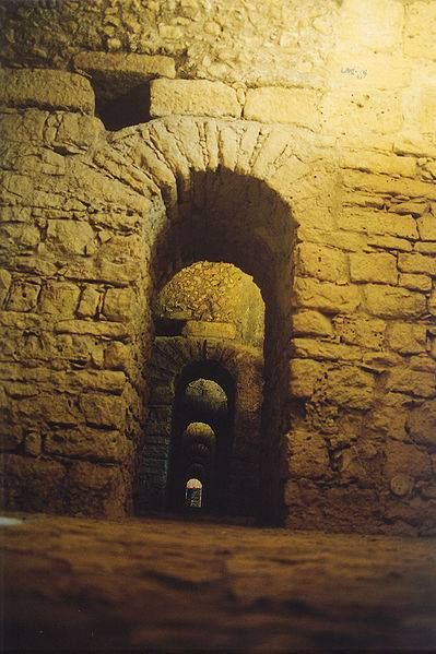 Roman galleries under the old Archbishop's Palace of Aeminium , modern Coimbra, Portugal