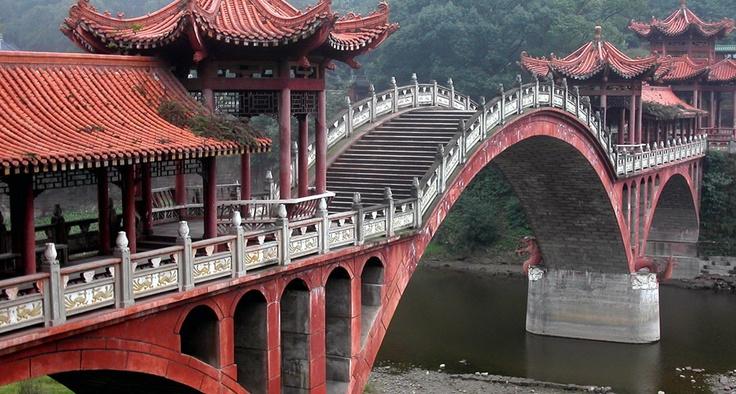 Bridge leading to the Giant Buddha, China