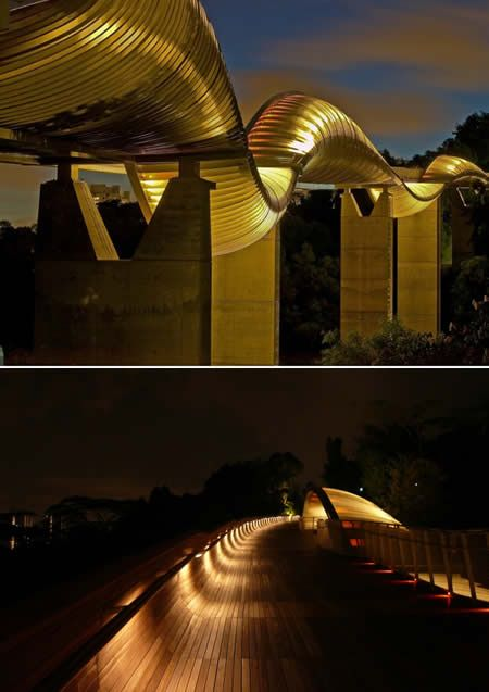 Henderson Waves At a height of 36 metres or 12 storeys pedestrian bridge, Singapore.