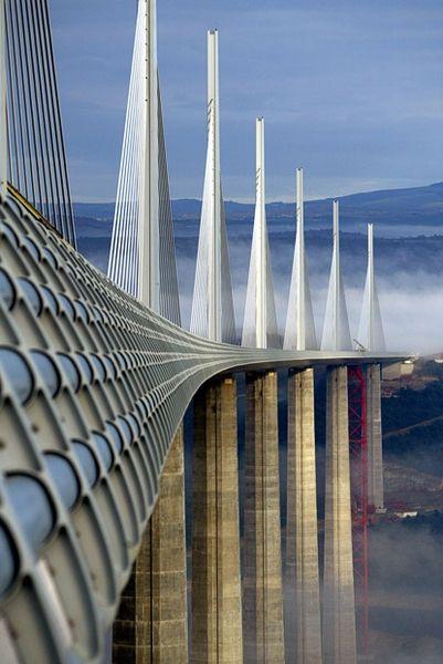Millau Bridge, France - the tallest bridge in the world.