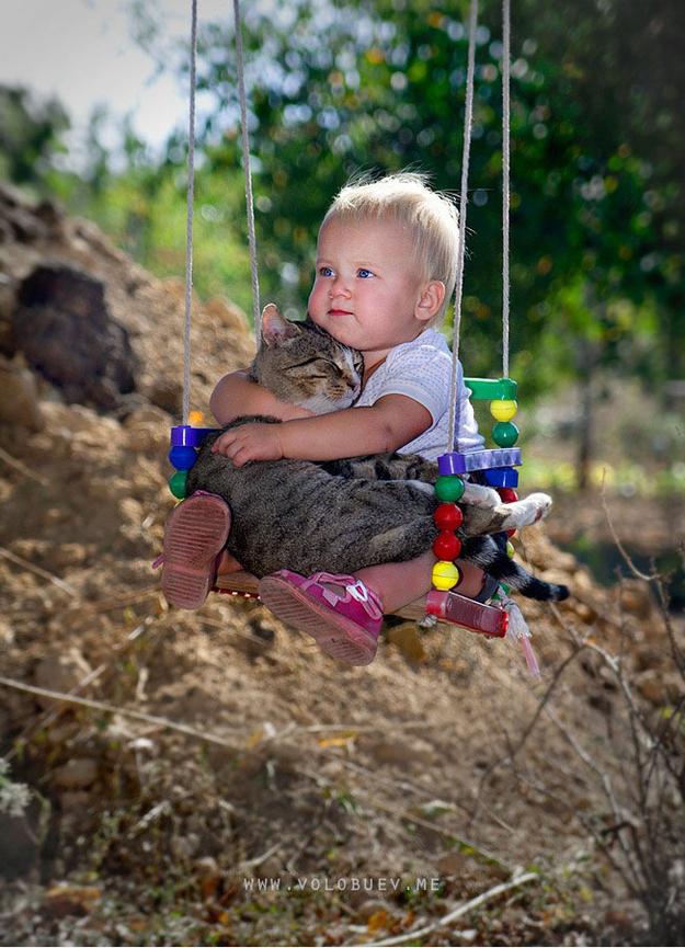 , on swing