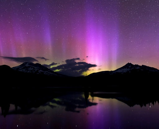 Northern lights from earth.