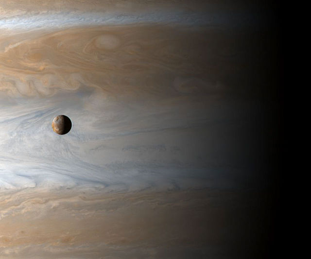 Jupiter and it's moon, IO