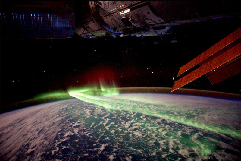 The northern lights from the International Space Station.