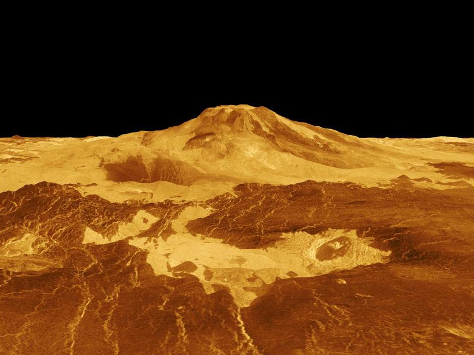 Mountain on Venus' surface.