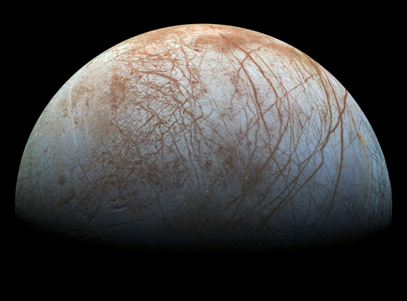 Europa, Jupiter's icy moon.