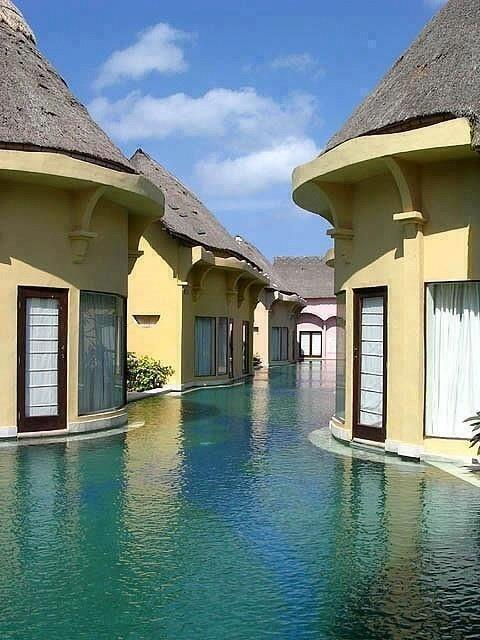 Bali, Indonesia swim resort.