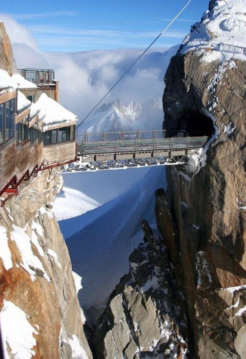 du Midiin Chamonix, France, the highest point in Europe