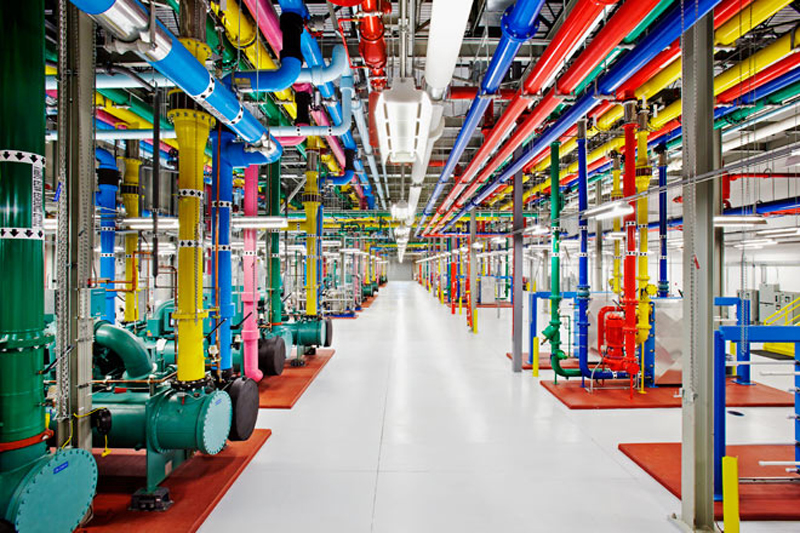 Inside one of Google's data centers.
