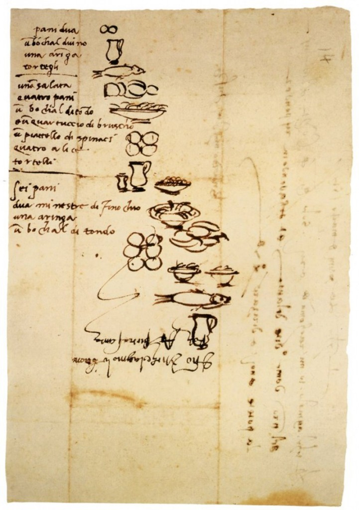 Michelangelo illustrated his grocery lists so that his illiterate servants would know what to buy for him.