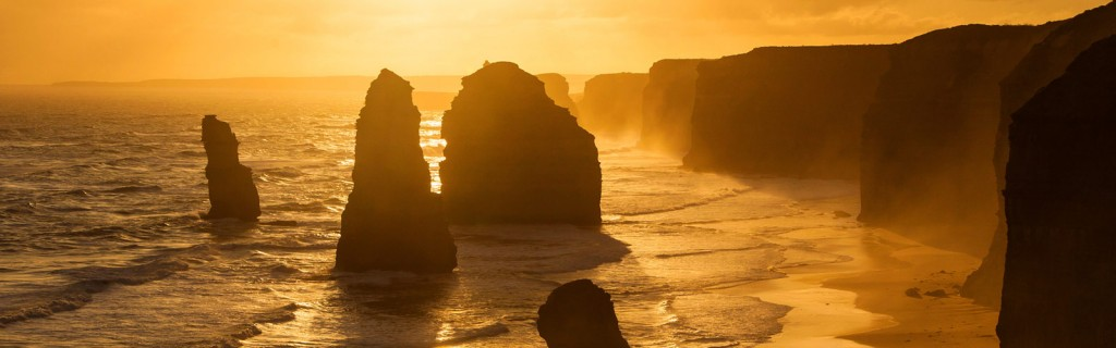 Apostles at sunset.
