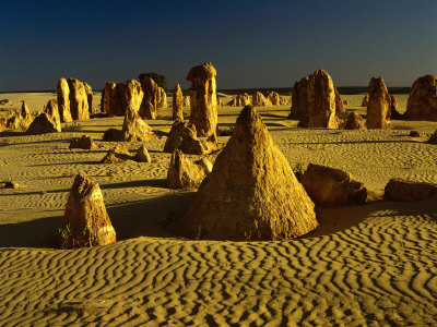 Eroded Rock Formations, the Pinnacle Desert, Nambung National Park, Western Australia