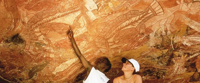 Aboriginal rock art. found in rocky outcrops that have afforded shelter to Aboriginal inhabitants for thousands of years.