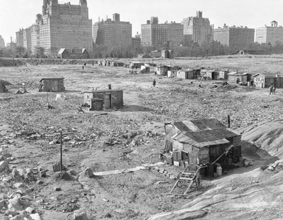 Central Park in in New York City, 1930