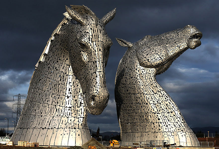 Kelpies, Grangemouth , UK (To put this into scale, note the man at the bottom, middle)