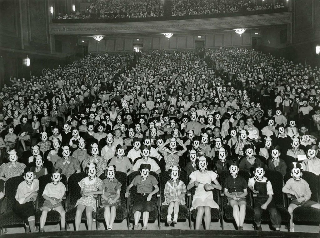 Meeting of the Mickey Mouse Club, early 1930s.  Who knew it existed before  tv?