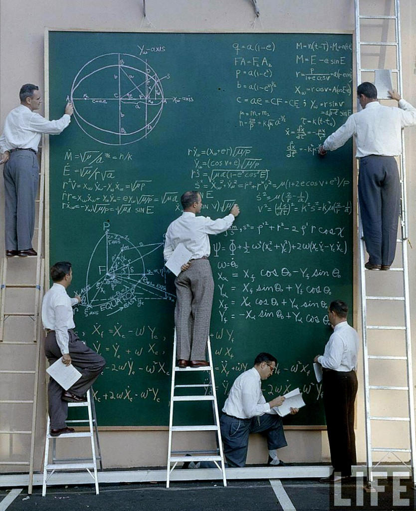 NASA before Powerpoint, 1960s.