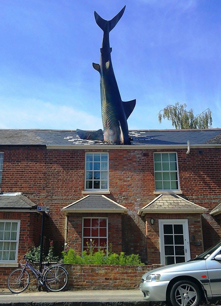 Shark house in Oxford, England