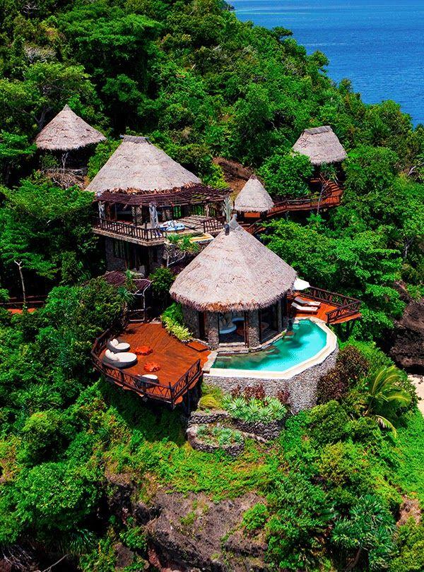 vaca, Peninsula Villa Lounge Laucala Island Resort, Taveuni Fiji