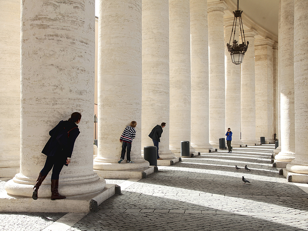 Colonnades at St Peter´s square, the Vatican, designed by Bernini,