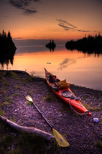 Herring Bay Sunset, Isle Royale, Lake Superior, Michigan, USA by yooper1949 on flickr