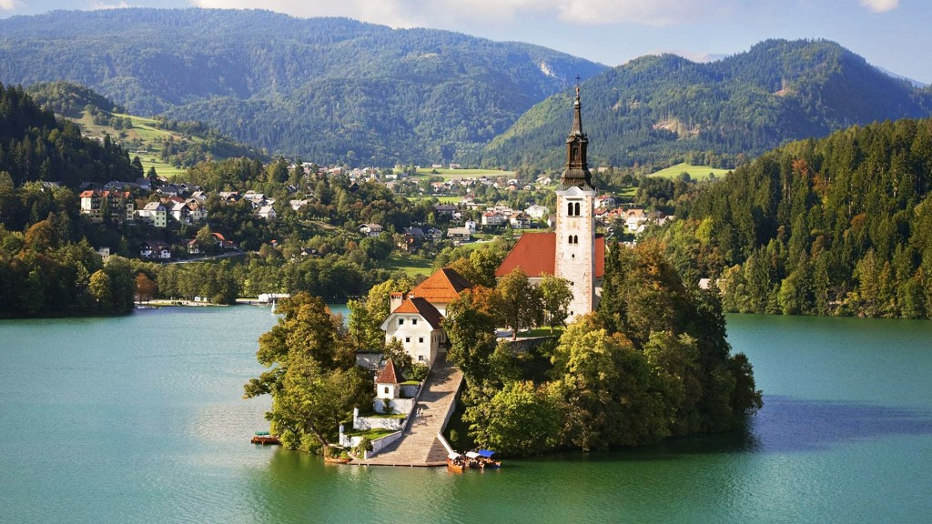 the Church of the Assumption on Bled Island.