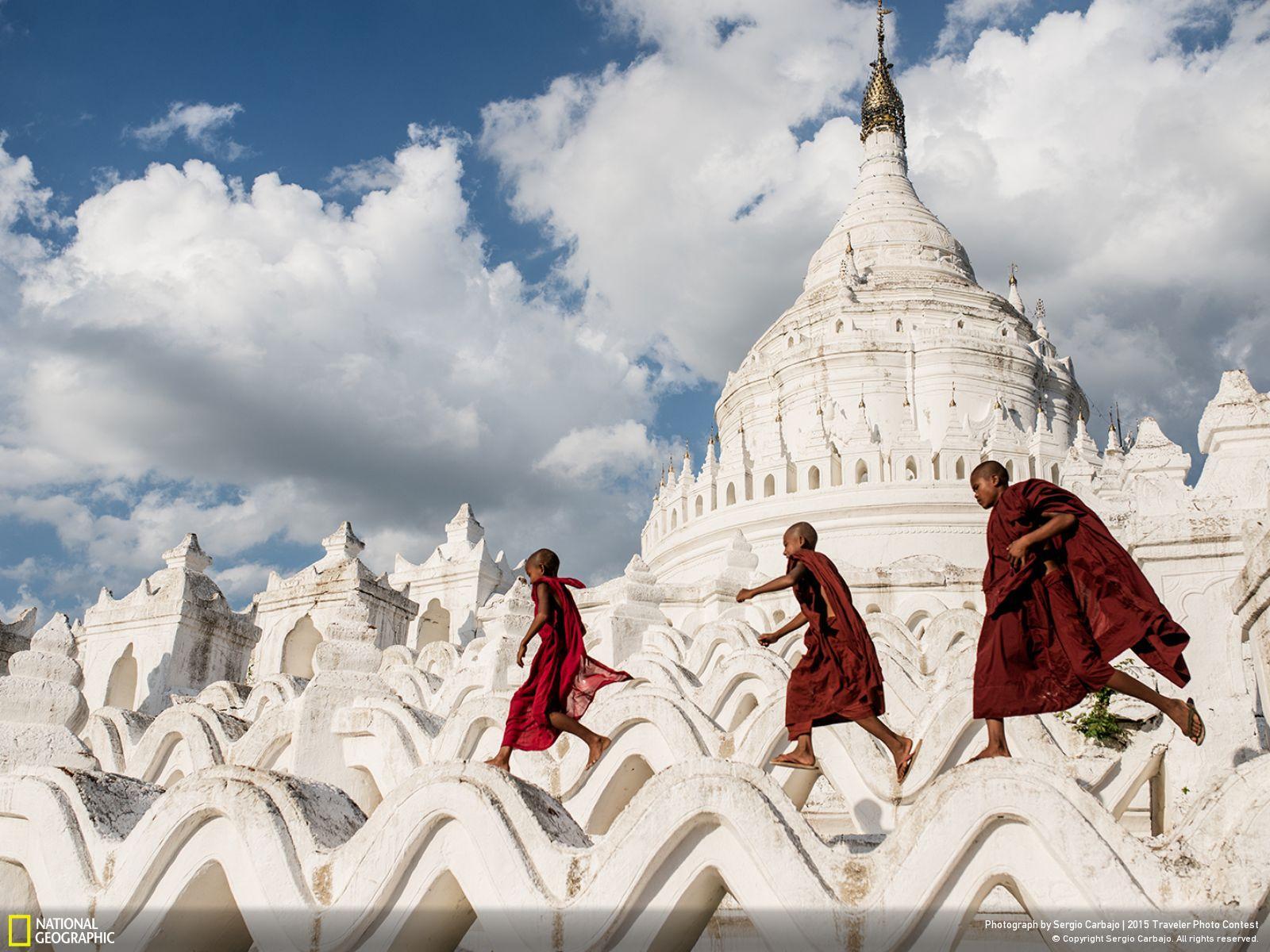 Myanmar, aka Burma, temple by Sergio Carbajo via National Geographic.