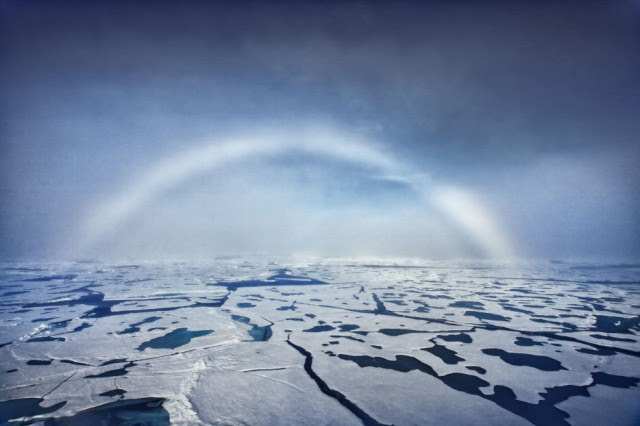White Rainbows form in fog, rather than rain. The condensation reflects little light, and as a result, the rainbow is made up of very weak colors – like white – rather than the vibrant colors of a traditional rainbow.